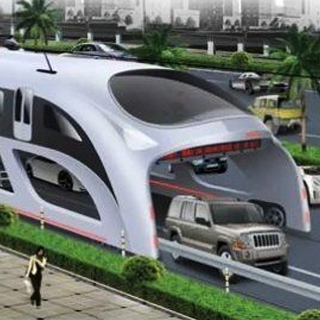 Le bus-tunnel roulant en Chine !