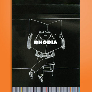 Les bloc-notes Rhodia remixés par Paul Smith
