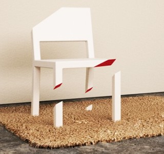 Cut Chair par Peter Bristol