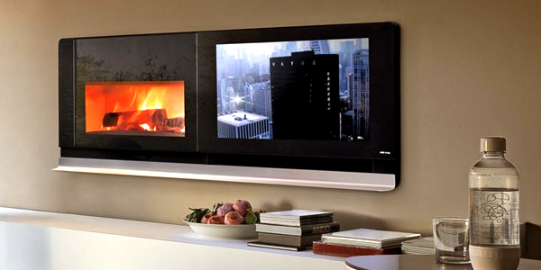la t l au coin du feu voire le feu au coin de la t l e tv. Black Bedroom Furniture Sets. Home Design Ideas