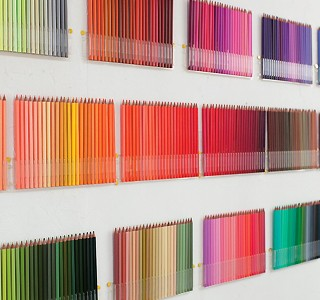 Colored Pencils wall by Felissimo !