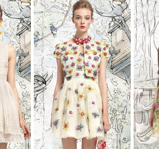 Red Valentino, le lookbook printemps-été 2013 shooté par Tim Walker.