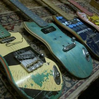Des skateboards recyclés en… guitares ?!