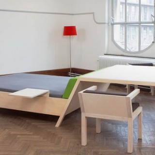 Bed'nTable, design deux en un