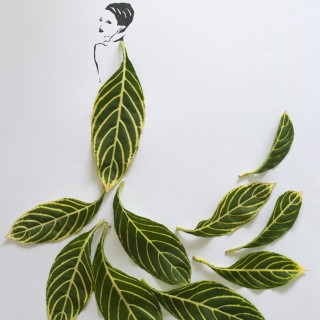 MODE/ ART : Fashion in Leaves