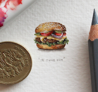 ART :  Miniature Paintings « 365 Postcards for Ants »