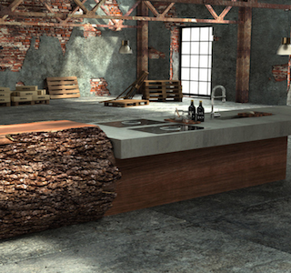 DESIGN : Oak & concrete kitchen by Werkhaus