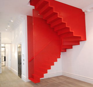 DESIGN : Hanging Red Stairs