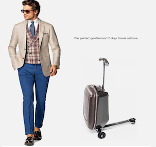 VOYAGE : The perfect gentleman's travel suitcase !