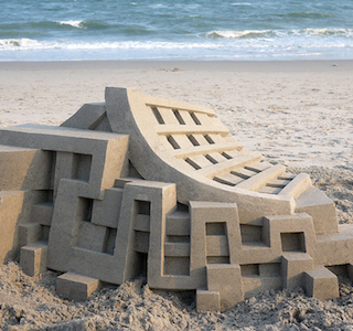 ARCHI : The sandy beach castles by Calvin Seibert
