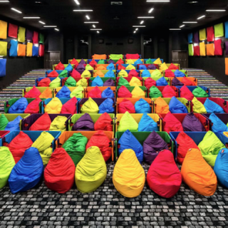 CINEMA : Colorful Beanbags Cinema