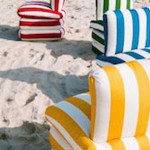 DESIGN : the pillow chair version Riviera italienne