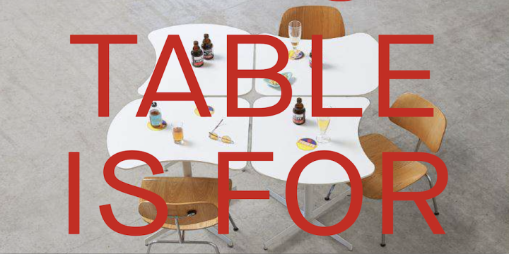 DISTANCIATION : C-19 Table by AWAA Architects