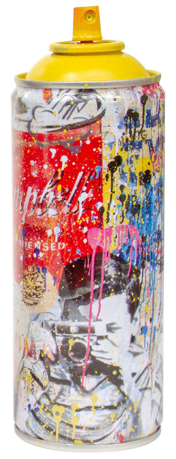 Deodato Art_visual_Mr. Brainwash, Spray Can - Smile, Stencil and spray paint on spray can in alluminium, 6.3x19 cm, 350 euro